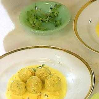 Stephen's Fish Dumplings and Saffron Sauce