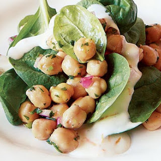 Chickpea and Spinach Salad with Cumin.