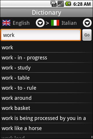 Translator English-Italian - screenshot