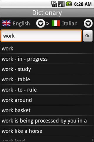 Translator English-Italian - screenshot