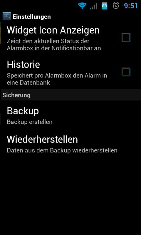 Alarm Box - screenshot