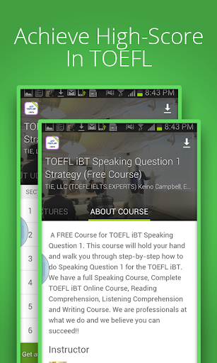 Speaking Course For TOEFL iBT