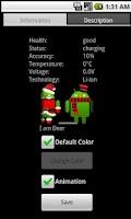 Screenshot of Battery Widget Cosplay