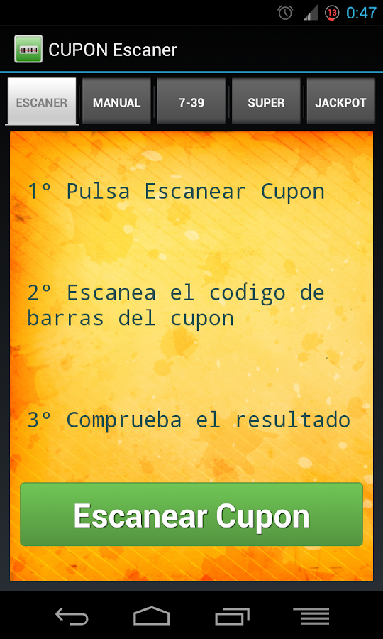 CUPON Escaner Sorteos de ONCE - screenshot