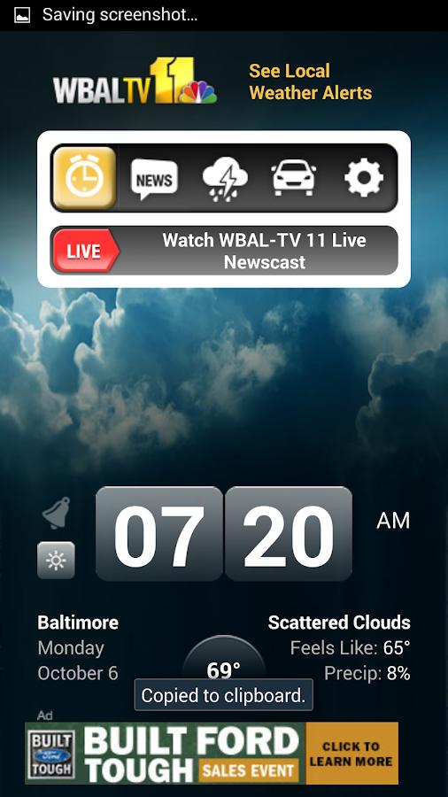 Alarm Clock WBAL-TV 11- screenshot