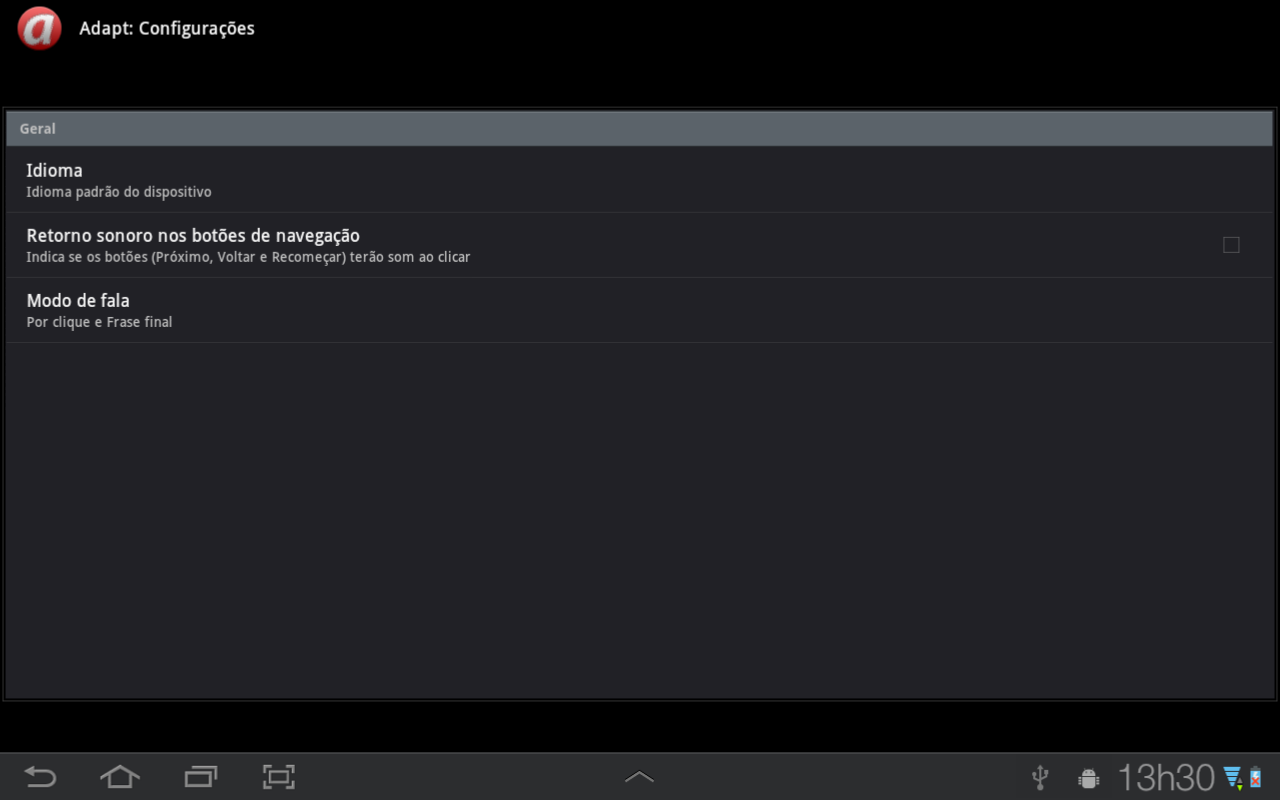 Adapt- screenshot