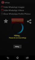 Screenshot of lolApp : Whatsapp Image Hide