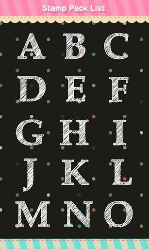Stamp: Alphabet *Casual White 1.4 Windows u7528 2