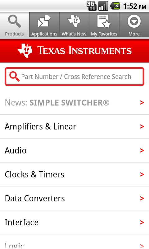 Texas Instruments- screenshot