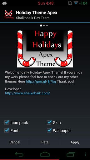 Apex Theme Holiday