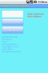 Rolling Rhyming Dictionary- screenshot thumbnail