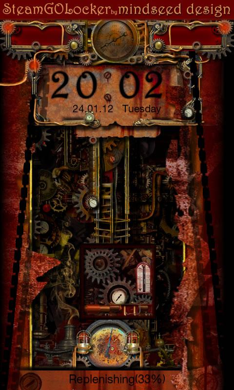 Steampunk GO Locker Theme - screenshot