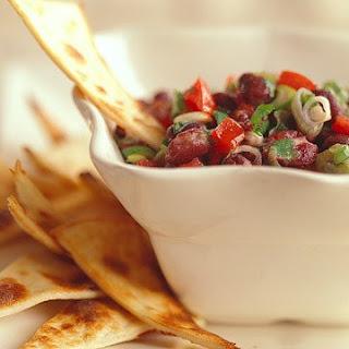 Black Bean Salsa with Tortilla Chips