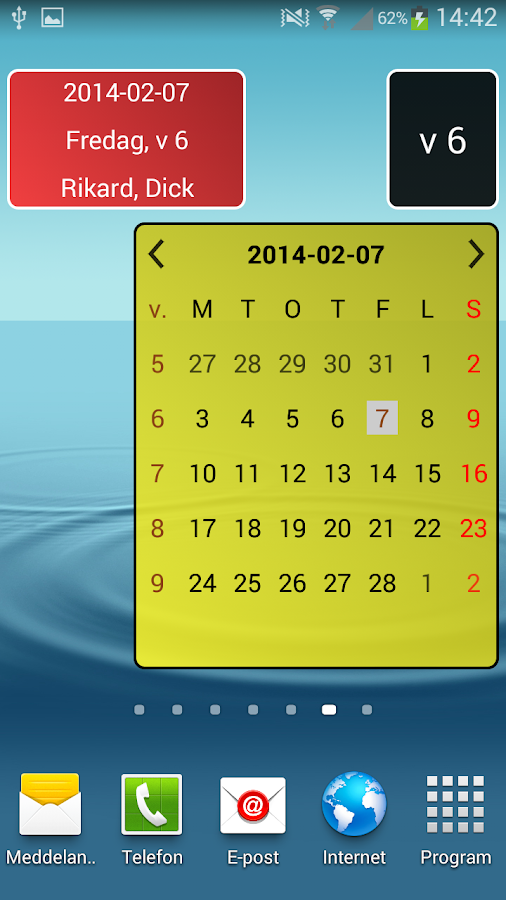 Sv. kalender- screenshot