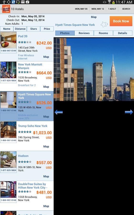 Hotels, HotelPlanner.com Deals - screenshot