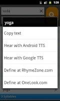 Screenshot of RhymeZone Rhyming Dictionary