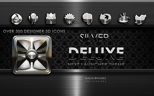 Next Launcher Theme Silver D