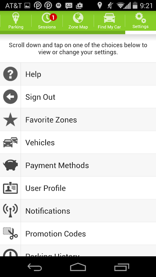 Parkmobile- screenshot