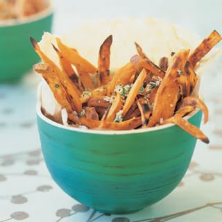 Sweet Frites with Garlic and Sea Salt