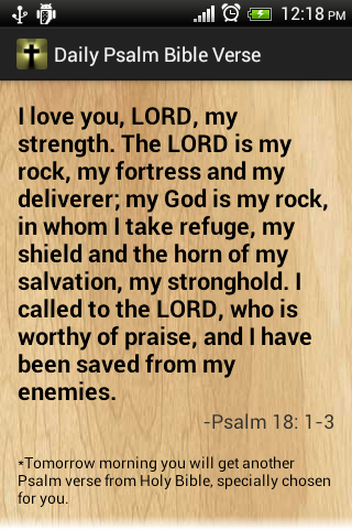 Psalm daily bible verses free