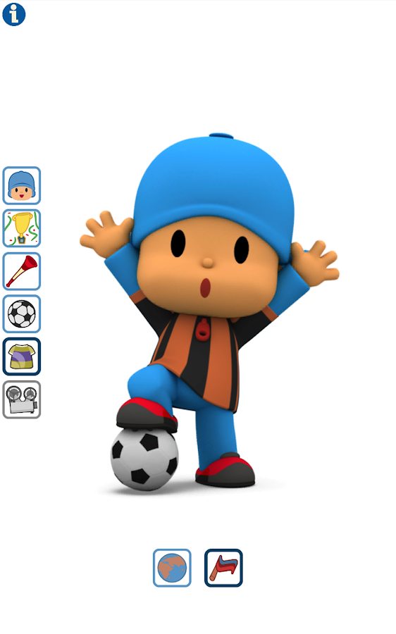 Talking Pocoyo Football Free- screenshot