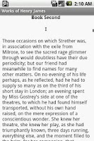 Screenshot of Works of Henry James