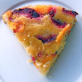 Plum Nectarine Buttermilk Cake.