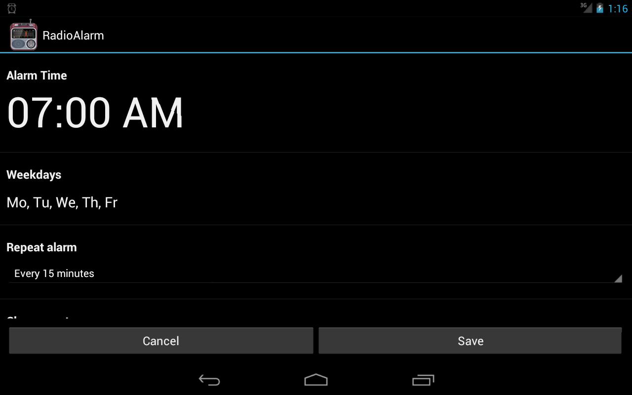 Alarm Clock Radio FREE- screenshot