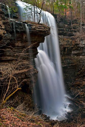 Virgin Falls by Steve Rogers - Landscapes Waterscapes ( waterfalls, cascade, creek, waterfall, tennessee, cascades, avalonart, avalon-art.com, virginfalls )