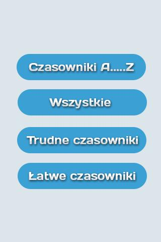 Czasowniki nieregularne- screenshot