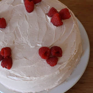Lemon Birthday Cake with Raspberry Buttercream.