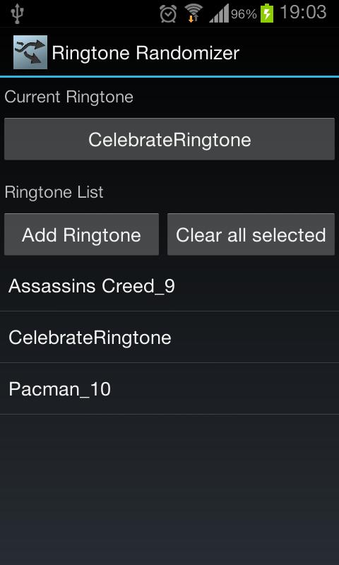 Ringtone Randomizer - screenshot