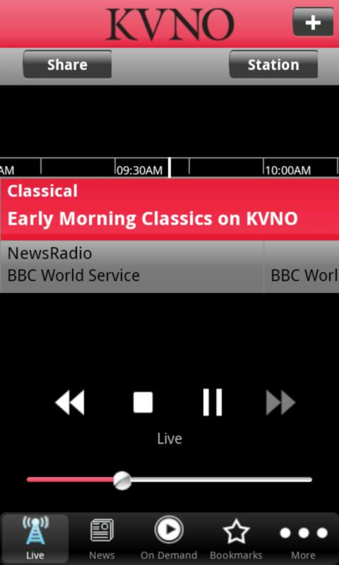 KVNO Public Radio App - screenshot