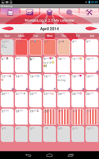 WomanLog Calendar - screenshot thumbnail