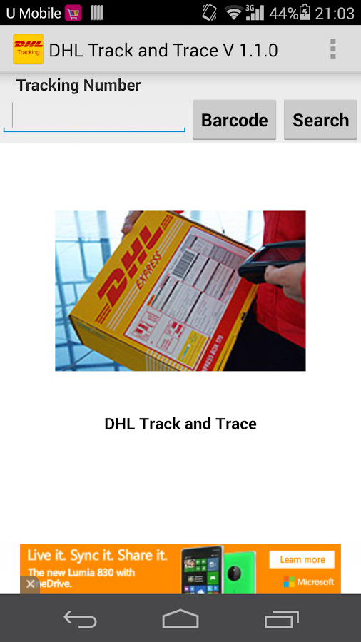 DHL Track &Trace(Not Official) - screenshot
