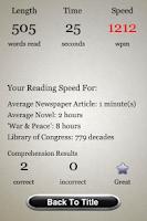 Screenshot of Speed Reading Trainer - Full