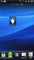 Screenshot of Xperia style LED widget