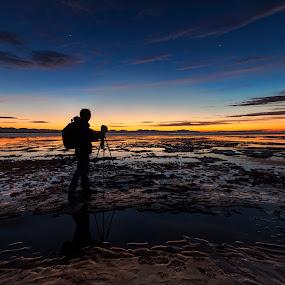 Sun Set at Iona Beach, Richmond, Canada by Lance Nguyen - Landscapes Sunsets & Sunrises