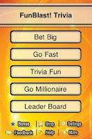Screenshot of FunBlast! Trivia Quiz Lite
