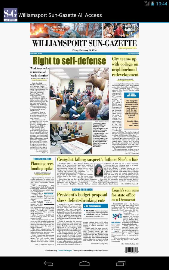 Sun-Gazette All Access - screenshot