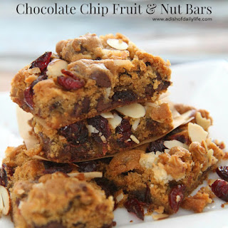 Chocolate Chip Fruit and Nut Bars.