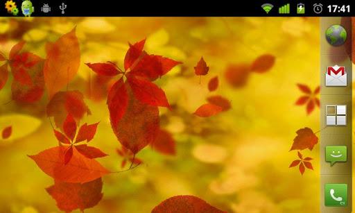 Живые обои падающие листья для дроид
