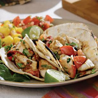 Charred Tomato & Chicken Tacos