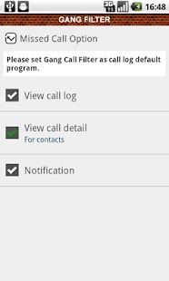 Gang Filter - call block - screenshot thumbnail