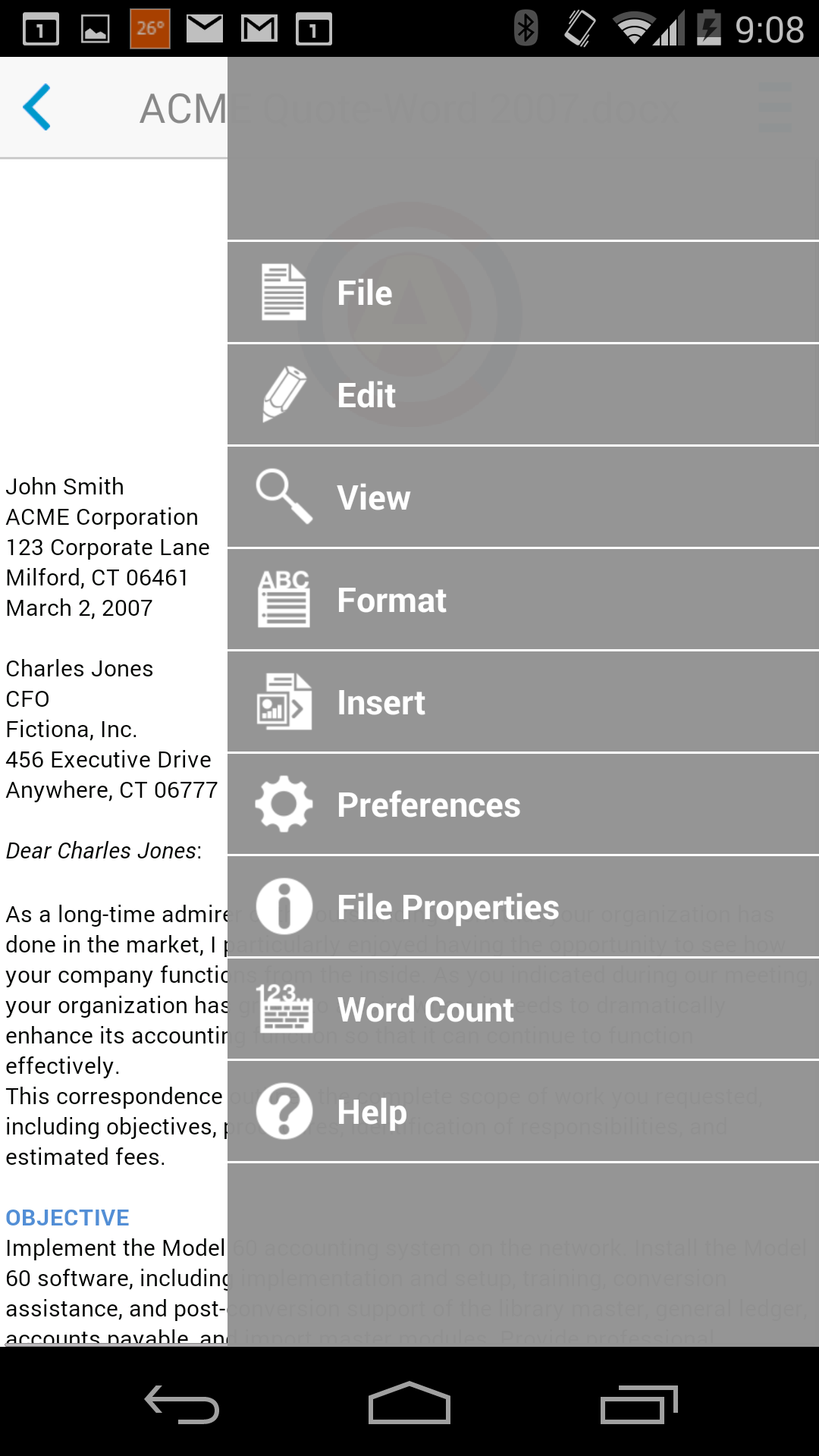 Docs To Go™ Free Office Suite screenshot #3