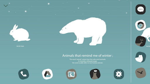 Animals of Winter Atom Theme