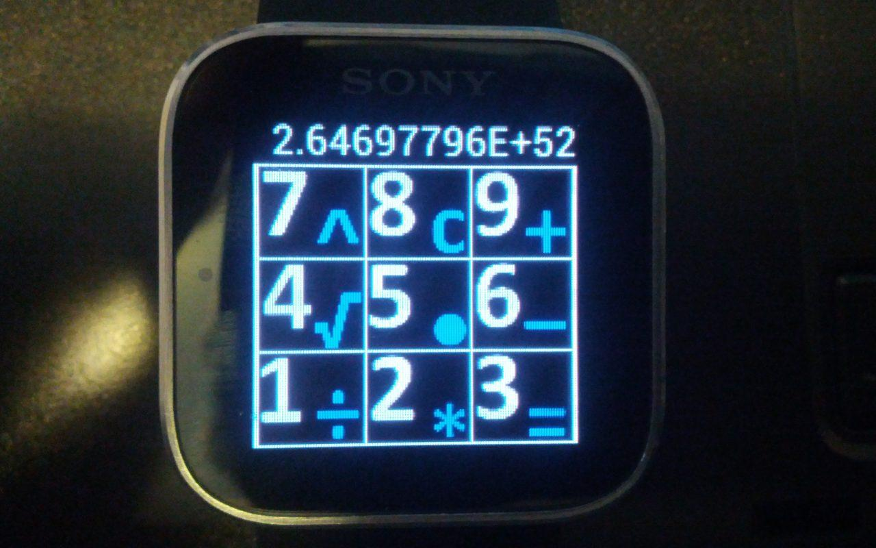 Calculator for Sony SmartWatch - screenshot