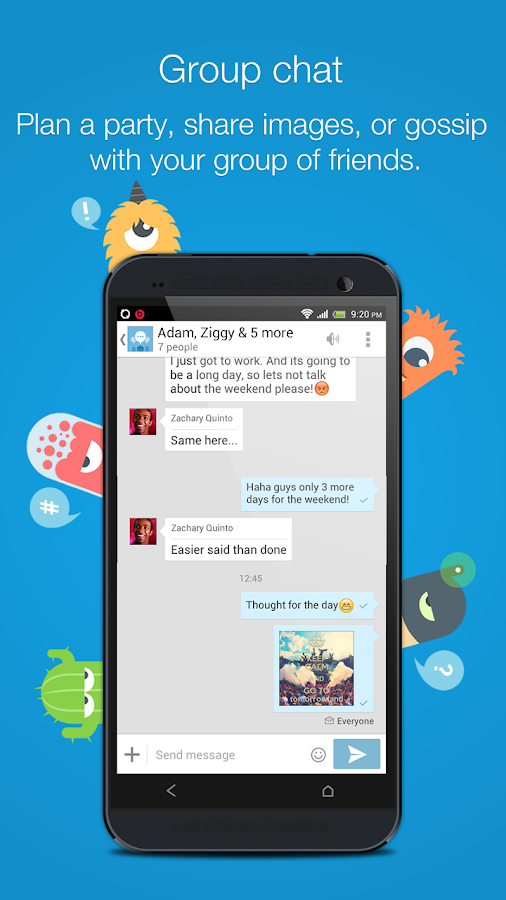 Talk.to Messenger - Fun SMS - screenshot