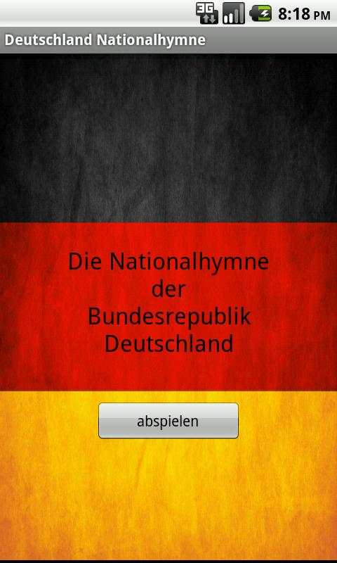 Deutsche Nationalhymne- screenshot