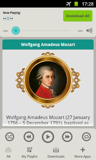 an introduction to the life of one of the best composers of all time wolfgang amadeus mozart Introduction wolfgang amadeus mozart (baptized johannes chrysostomus wolfgangus theophilus mozart, b 27 january 1756–d 5 december 1791) is widely regarded as one of the greatest composers in european music history.
